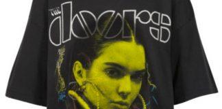 Kylie e Kendall Jenner usam seus rostos em camisetas de rock