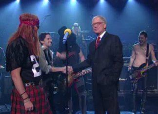 O dia em que David Letterman apresentou um cover de Guns N Roses