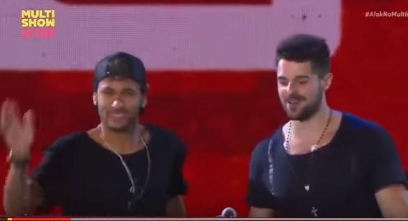 Rolou zoação com Neymar no show de Alok