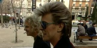 David Bowie e Peter Frampton: à procura de uma cerveja em Madri