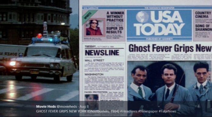 Fake news de filmes, numa conta de Twitter