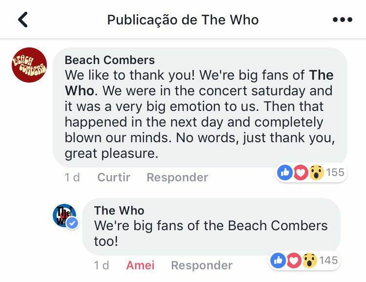 The Who, fãs dos Beach Combers