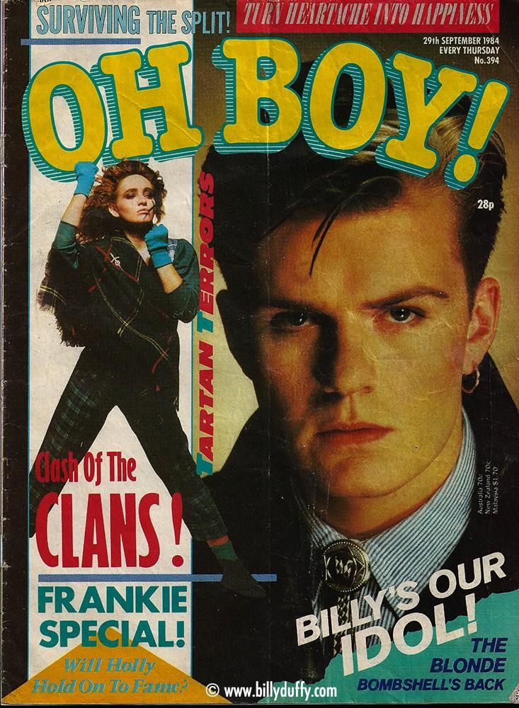 Billy Duffy na capa da Oh Boy!
