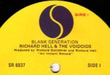 """""""Blank generation"""", de Richard Hell, no Invisível"""