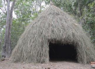 Como construir uma cabana na floresta usando pedras como ferramentas