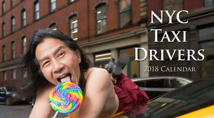 Motoristas de táxi de Nova York em fotos, er, sensuais num calendário 2018