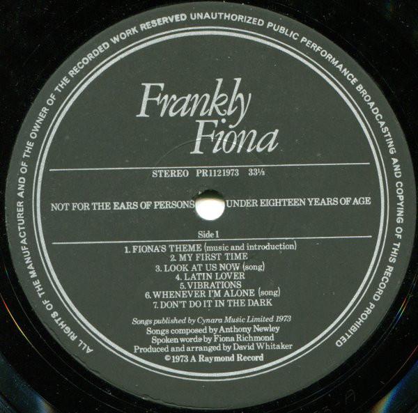 Frankly Fiona: sex symbol da Inglaterra dos anos 1970 em disco