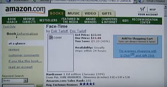 Jeff Bezos e a Amazon.com em 1999 (mas parece que foi há 200 anos!)
