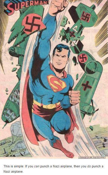 Nazistas apanhando de super-heróis
