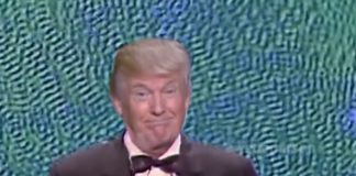 "Donald Trump cantando ""Once in a lifetime"", dos Talking Heads"