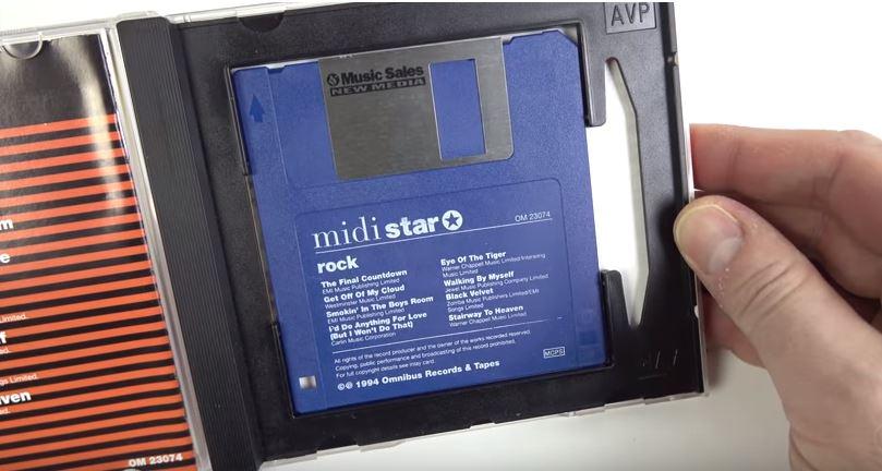 Pronto: acharam um aparelho de som que toca floppy disk