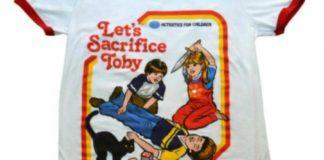 Camisas retrô com ilustrações satanistas para seus filhos: compre já!