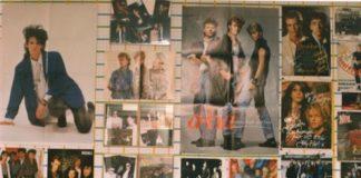 Quartos de adolescentes dos anos 1980: um monte de pôsteres