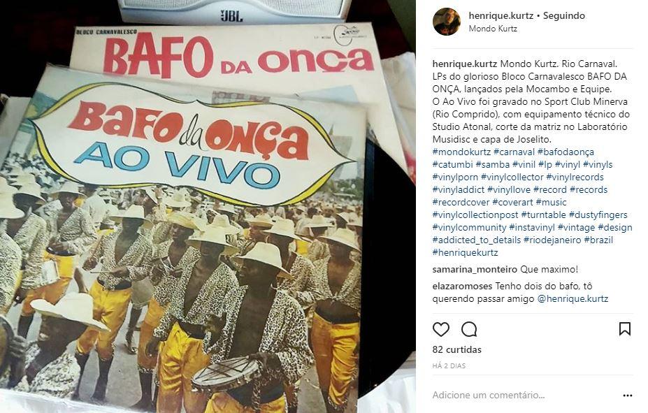 No Instagram, discos antigos do Carnaval