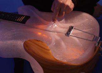 Instrumentos feitos de gelo, em concerto