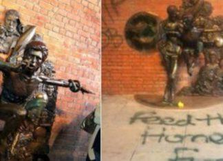 Já picharam a estátua de David Bowie