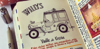 Um sujeito tá fazendo sketchbooks detalhadíssimos sobre suas viagens pelo mundo