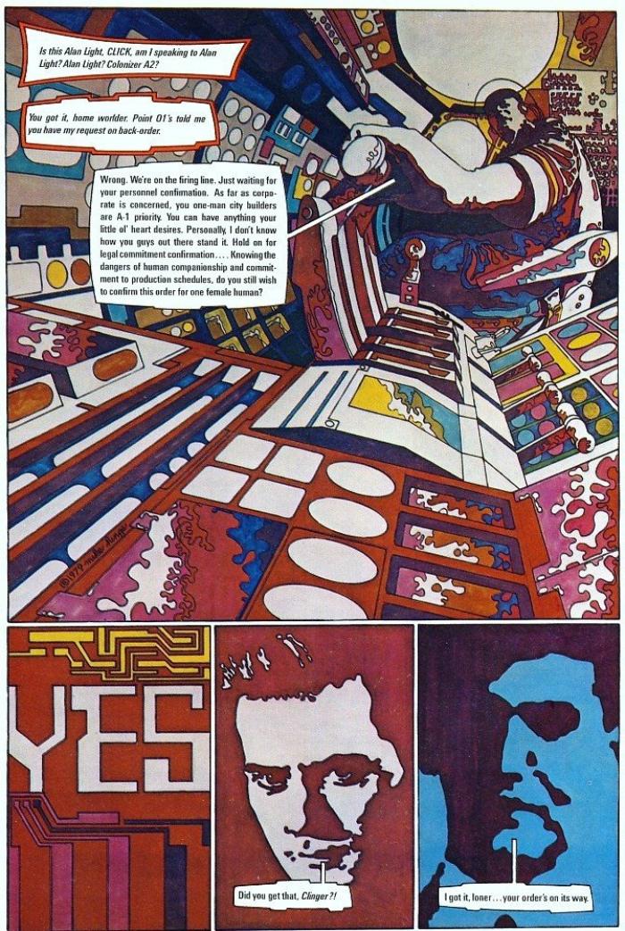 O universo de ficção científica e pop de art de Mike Hinge