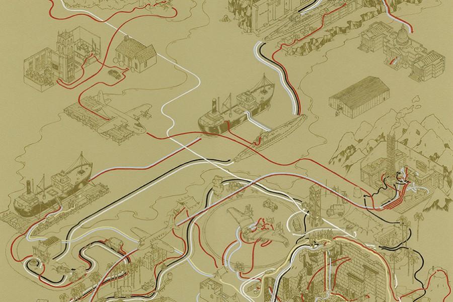 Andrew DeGraff e seus mapas de locações de filmes