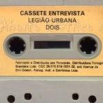 Legião Urbana: jogaram no YouTube o K7 da entrevista de divulgação do disco Dois