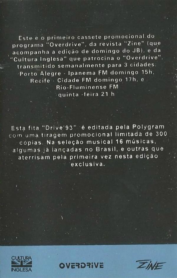 Recordando (e ouvindo!) a fitinha Drive 93, de José Roberto Mahr