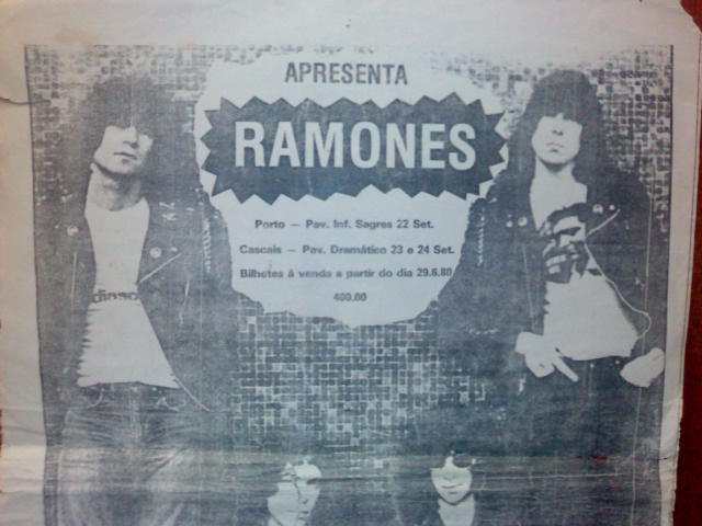 A primeira vez que os Ramones foram a Portugal