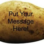 Mensagem na batata - envie uma para seu grande amor