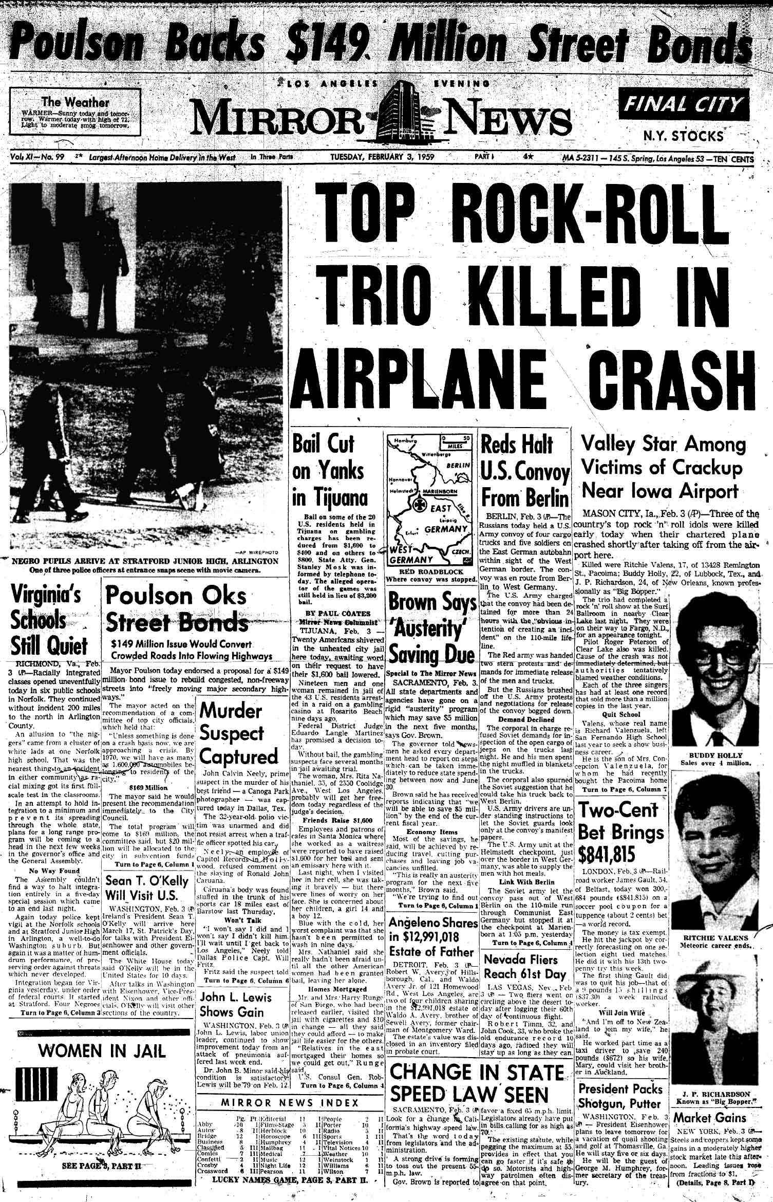 O dia em que a música morreu: Buddy Holly, Richie Valens e Big Bopper