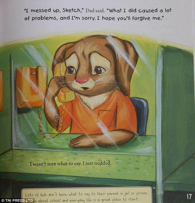 Um livro infantil para crianças que veem o pai ser preso