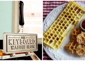 Quer comer waffles em formato de teclado de computador?
