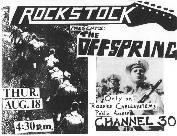 O Offspring e outras bandas num obscuro programa de TV dos anos 1980