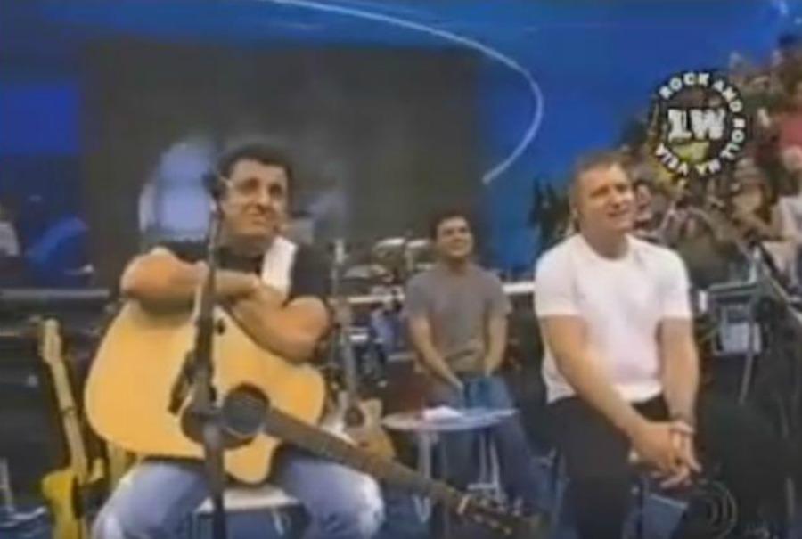 """Garotos Podres apavorando Bruno & Marrone no """"Altas horas"""""""