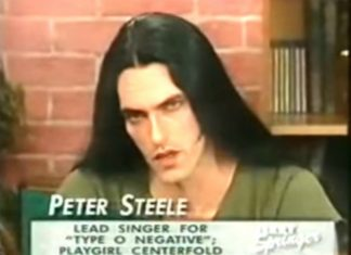 Peter Steele: sexo, groupies, rock e cara de mau num talk-show