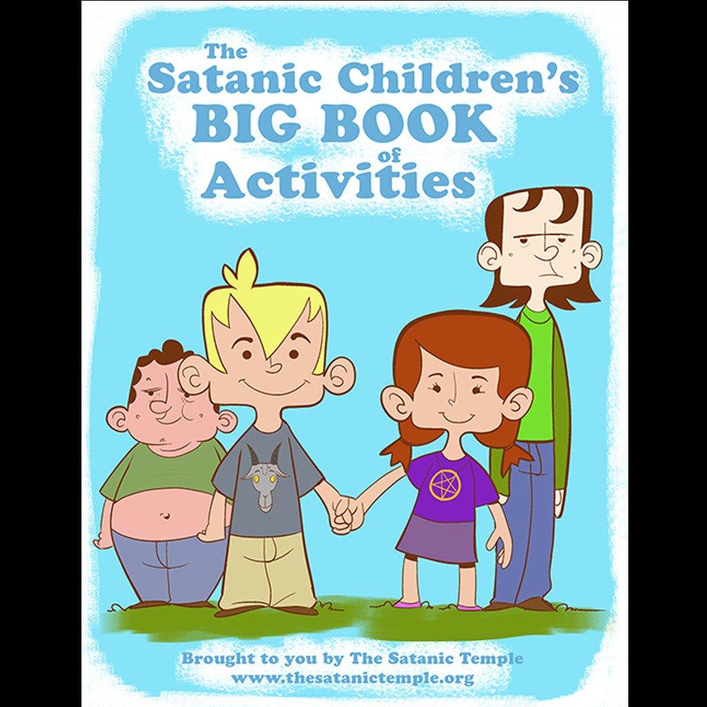 Livro de atividades das crianças satânicas