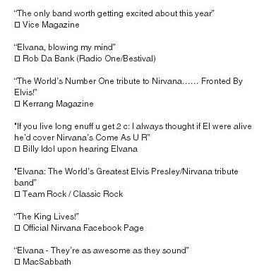 Conheça o Elvana, a mistura de Elvis e Nirvana