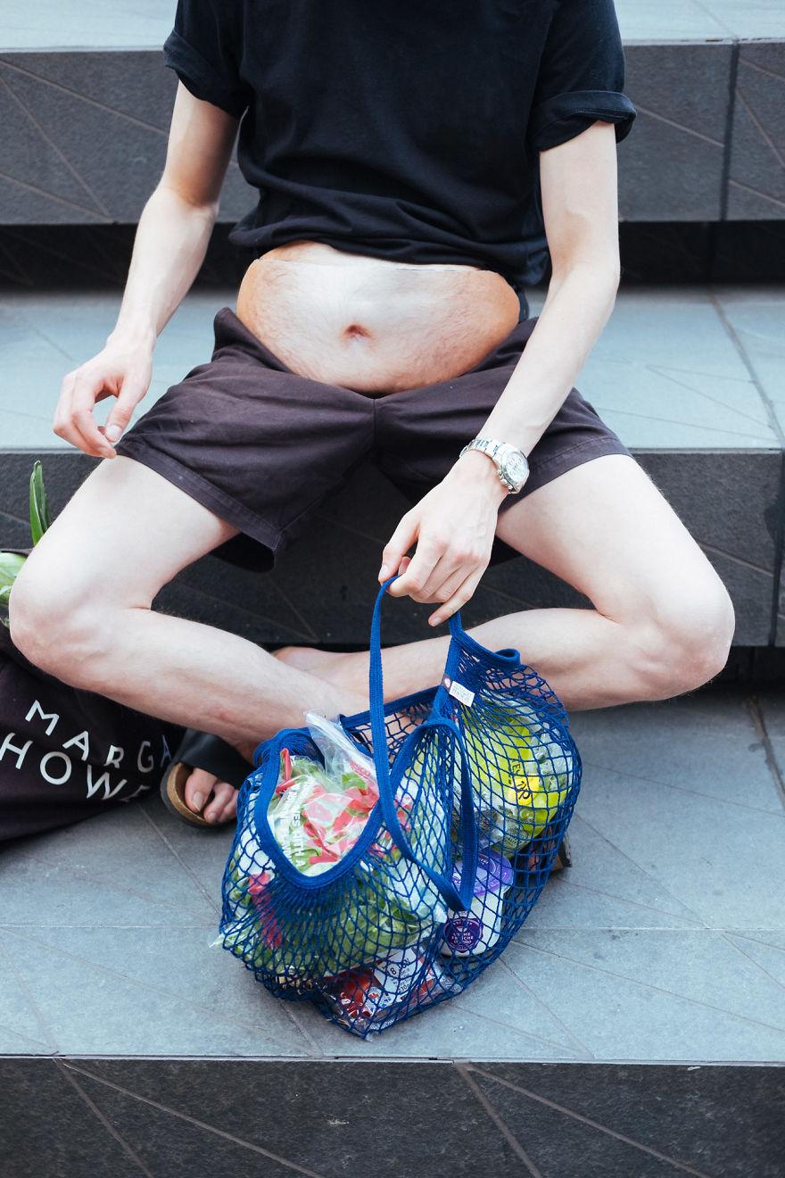 DadBag: uma pochete que imita barriga de cerveja