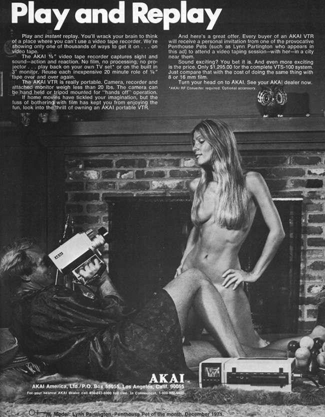 Propaganda da câmera caseira da Akai nos anos 1970