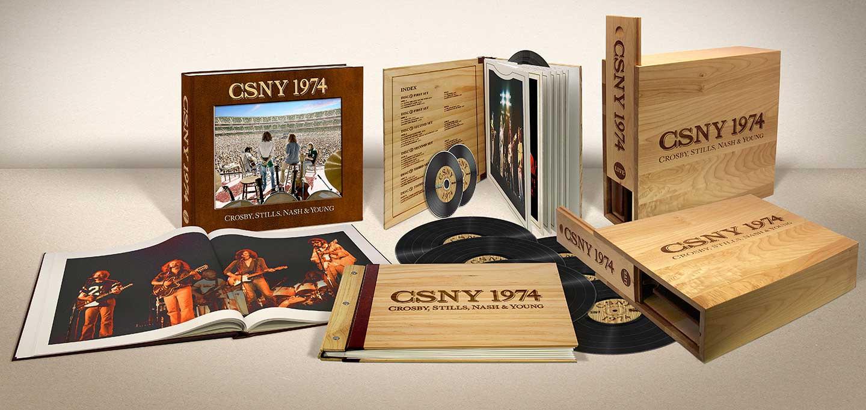 """Caixa de Crosby, Stills, Nash & Young, """"CSNY 1974"""""""