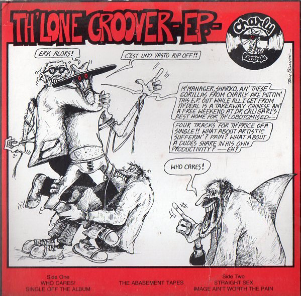 Quadrinho do Th' Lone Groover, escrito por Tony Benyon