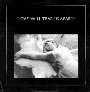 "Capa do single ""Love will tear us apart"", do Joy Division, de 1980"