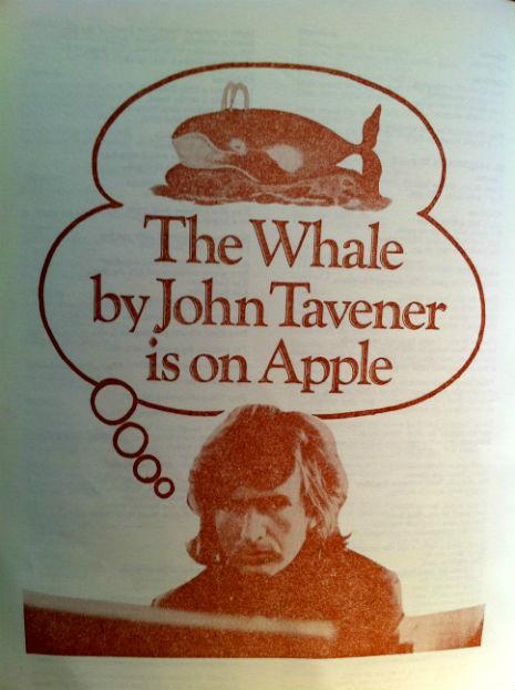 The whale, de John Tavener, na Apple