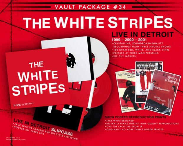White Stripes ganha série de LPs ao vivo
