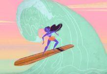 A história secreta do surf, em desenho animado