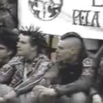 Anarcopunks com Serginho Groisman, em 1991