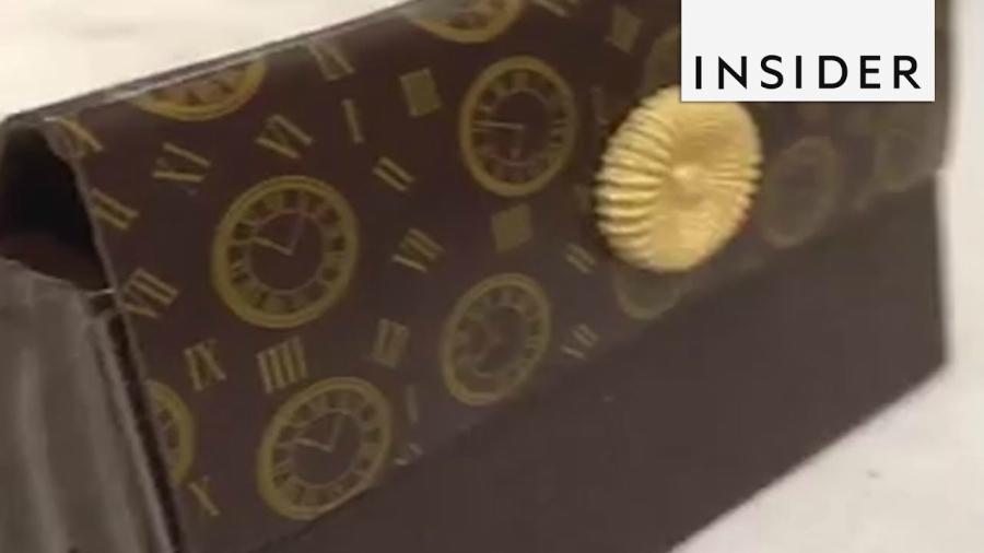 Um vídeo que ensina a fazer bolsas de chocolate
