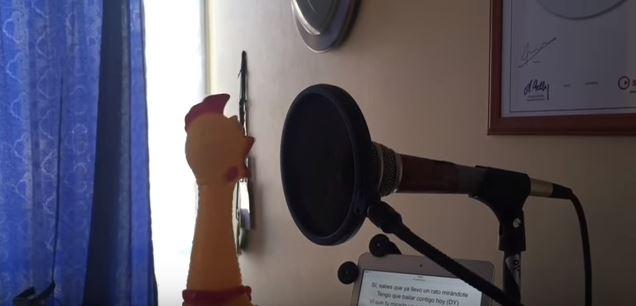 """""""Despacito"""" cantado por uma galinha de borracha"""