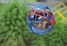 A diversão no Equador é saltar de bungee jump no La Bola Loca