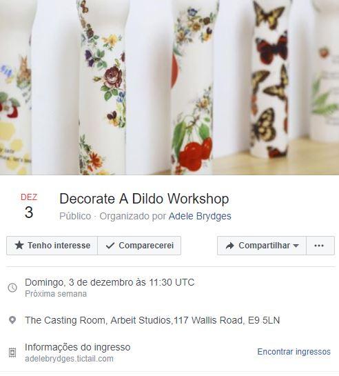 Vai rolar um workshop de decoração de vibrador em Londres