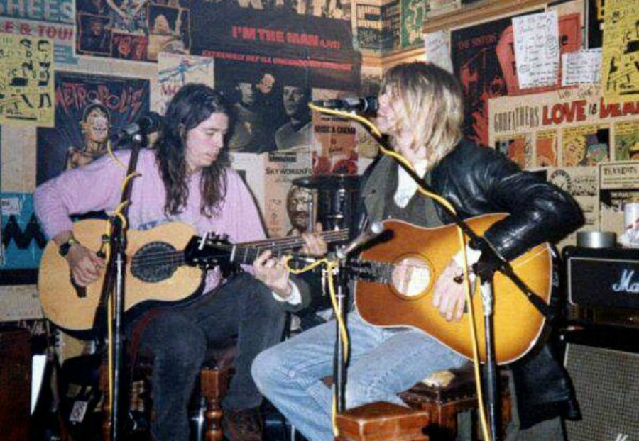 Nirvana acústico na Escócia, em 1991