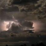 Imagens assustadores de uma tempestade na Austrália